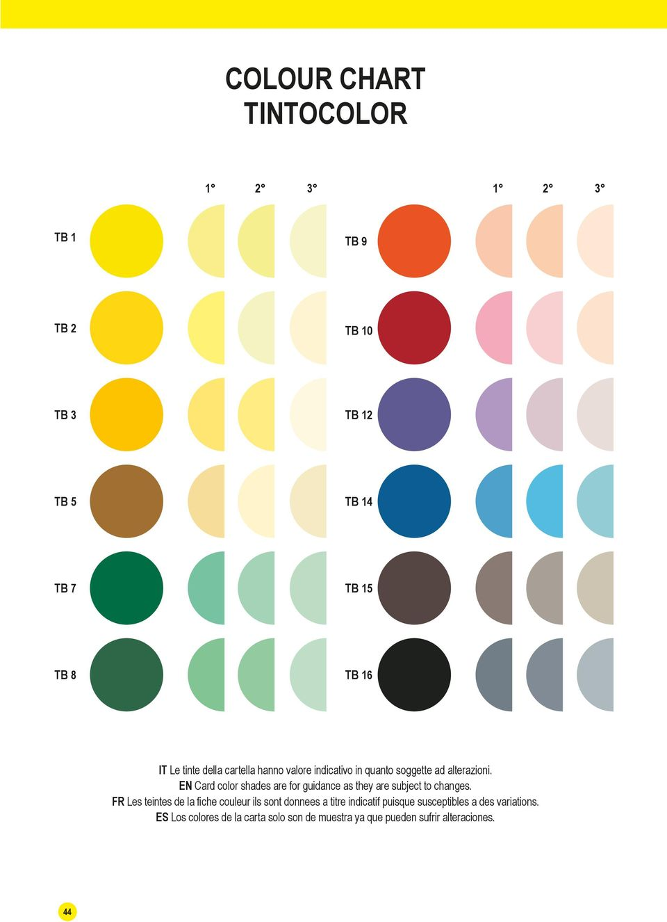 EN Card color shades are for guidance as they are subject to changes.