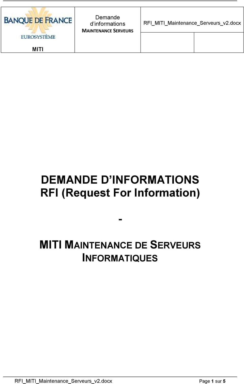 docx MITI DEMANDE D INFORMATIONS RFI (Request For