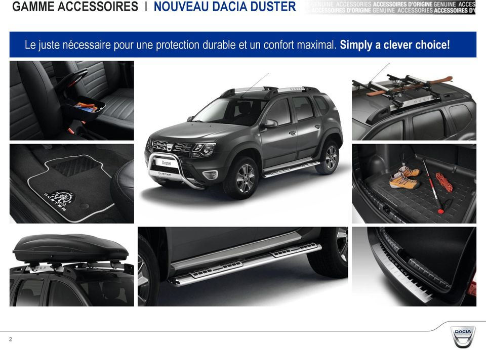 nouveau dacia duster gamme accessoires pdf. Black Bedroom Furniture Sets. Home Design Ideas