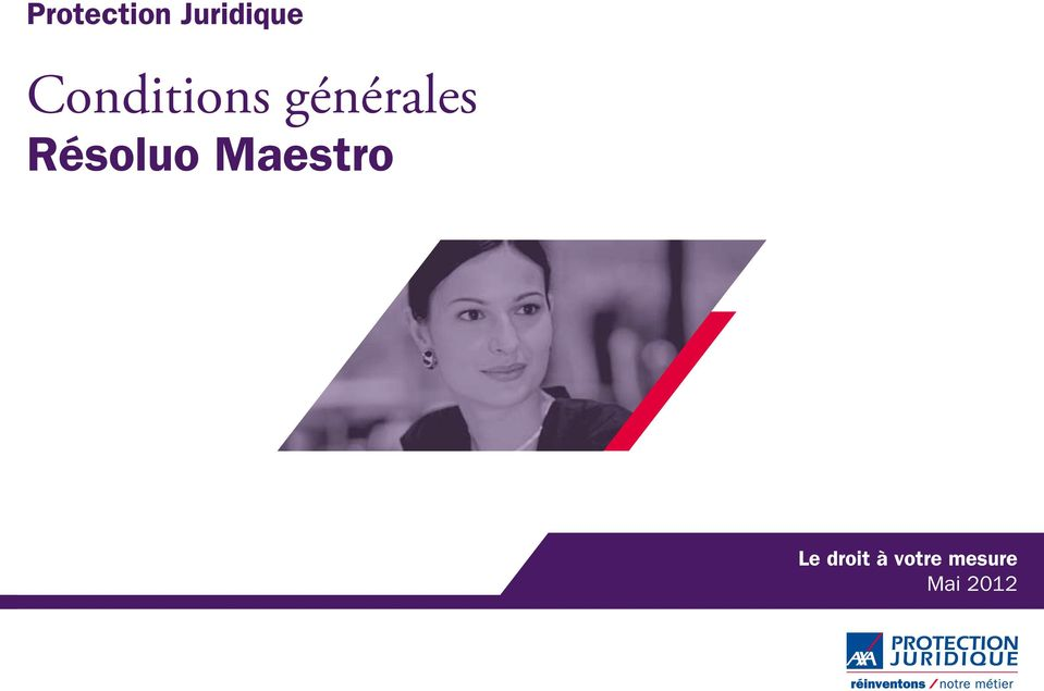 Conditions g n rales r soluo maestro pdf for Protection juridique axa