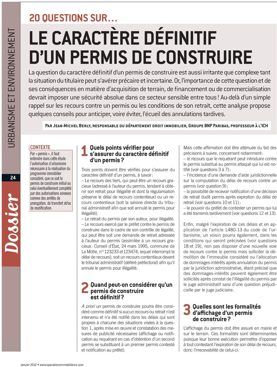 Le caract re d finitif d un permis de construire pdf for Modification d un permis de construire