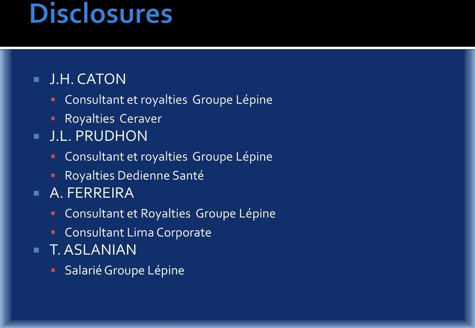 PRUDHON Consultant et royalties Groupe Lépine Royalties