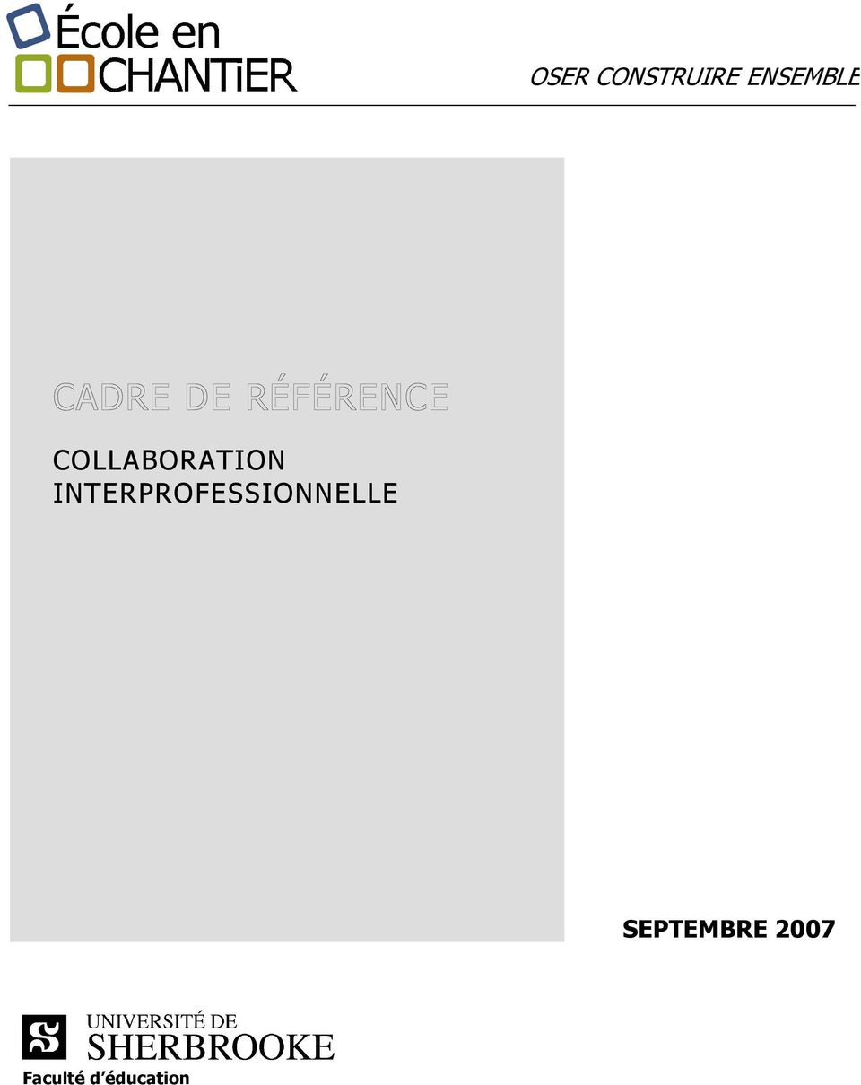 INTERPROFESSIONNELLE
