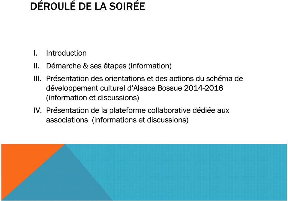d Alsace Bossue 2014-2016 2016 (information et discussions) IV.