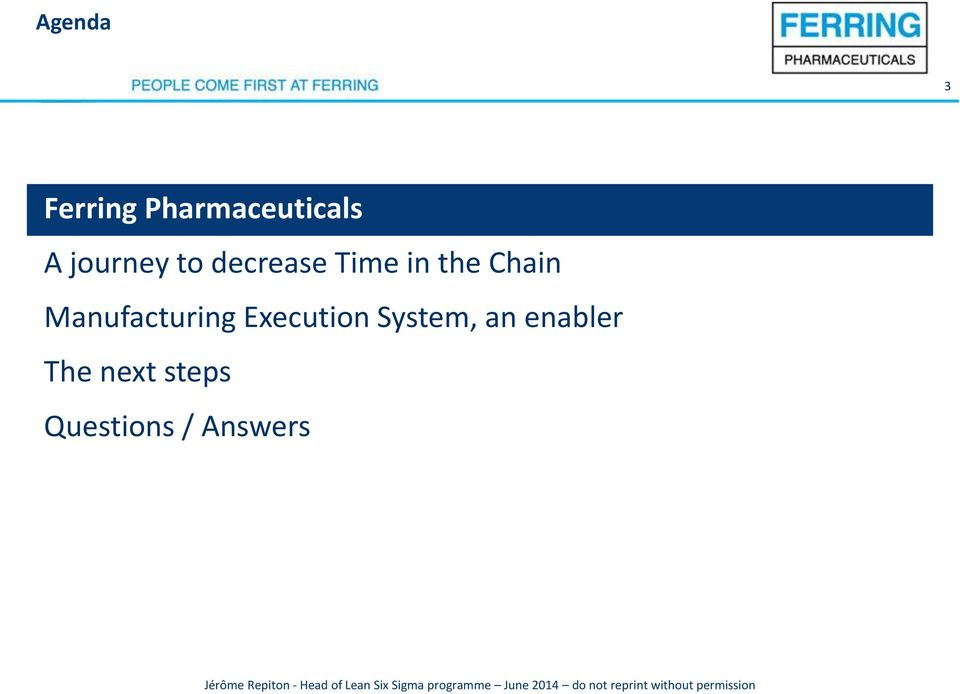 Manufacturing Execution System, an