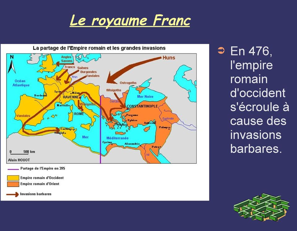 d'occident s'écroule à