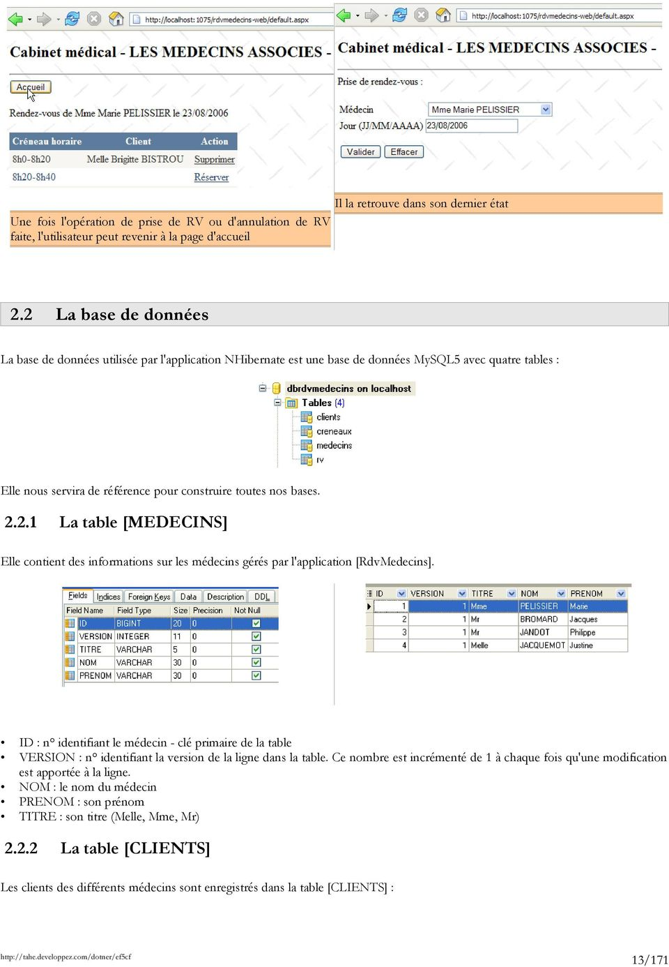 Introduction par l 39 exemple entity framework 5 code first for Sur la table application