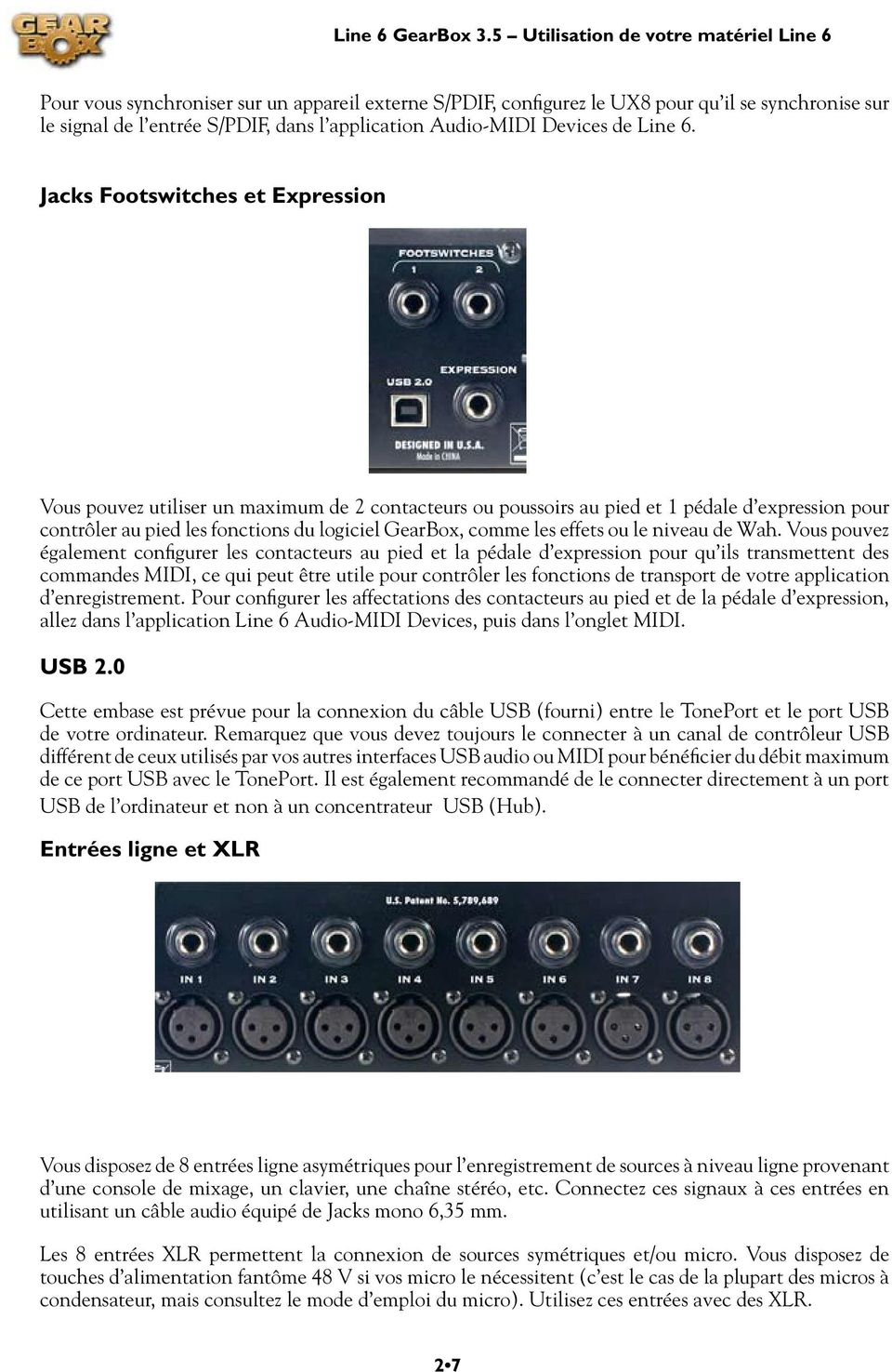 Audio-MIDI Devices de Line 6.