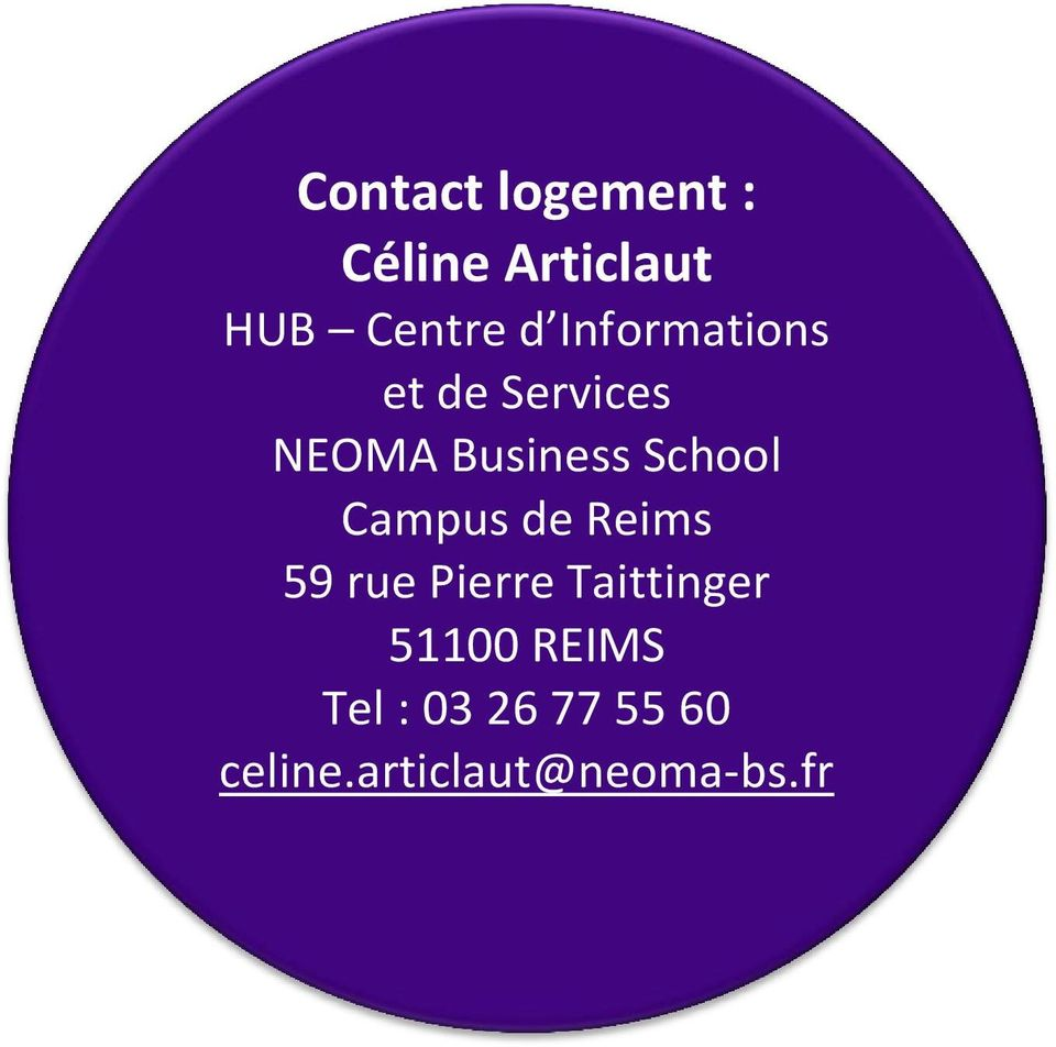 Campus de Reims 59 rue Pierre Taittinger 51100