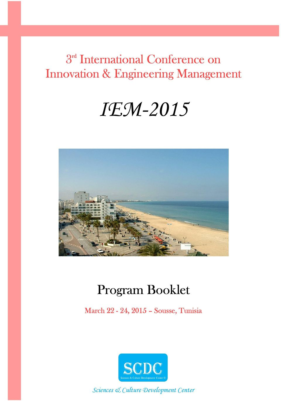IEM-2015 Program Booklet March 22-24,,