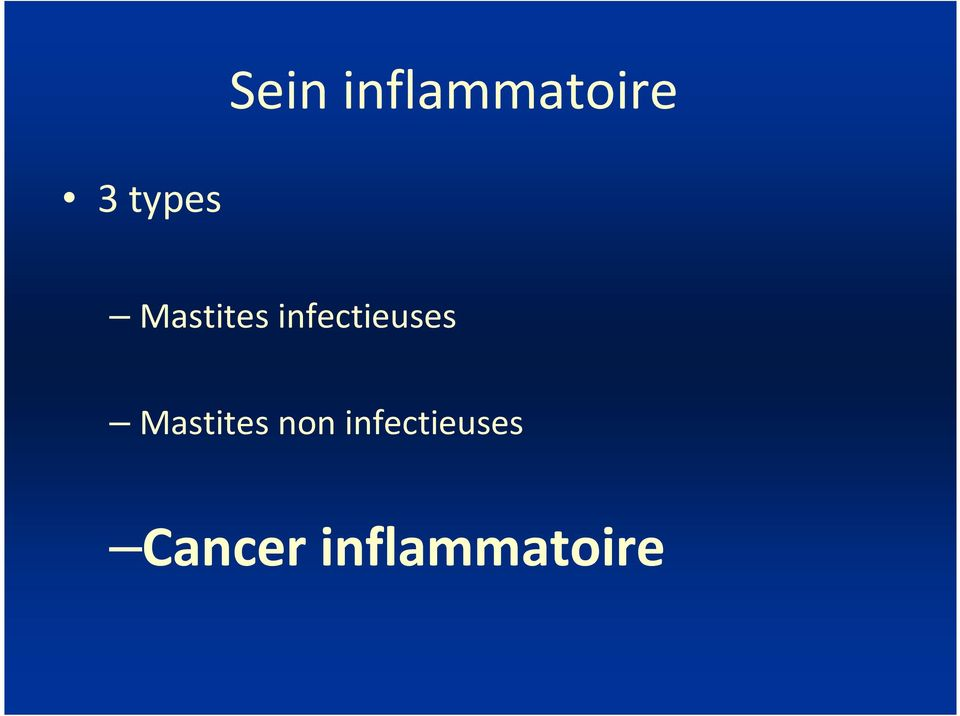 infectieuses Mastites