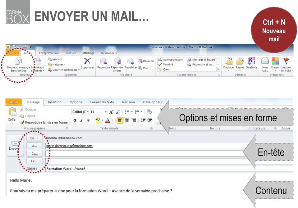 mail Options et
