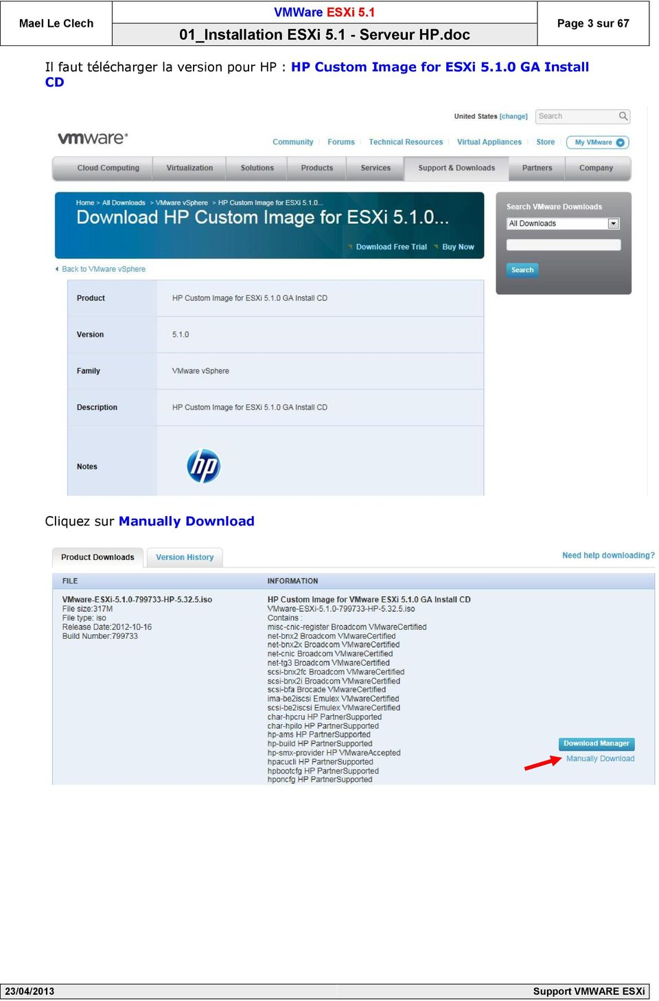 HP Custom Image for ESXi 5.1.