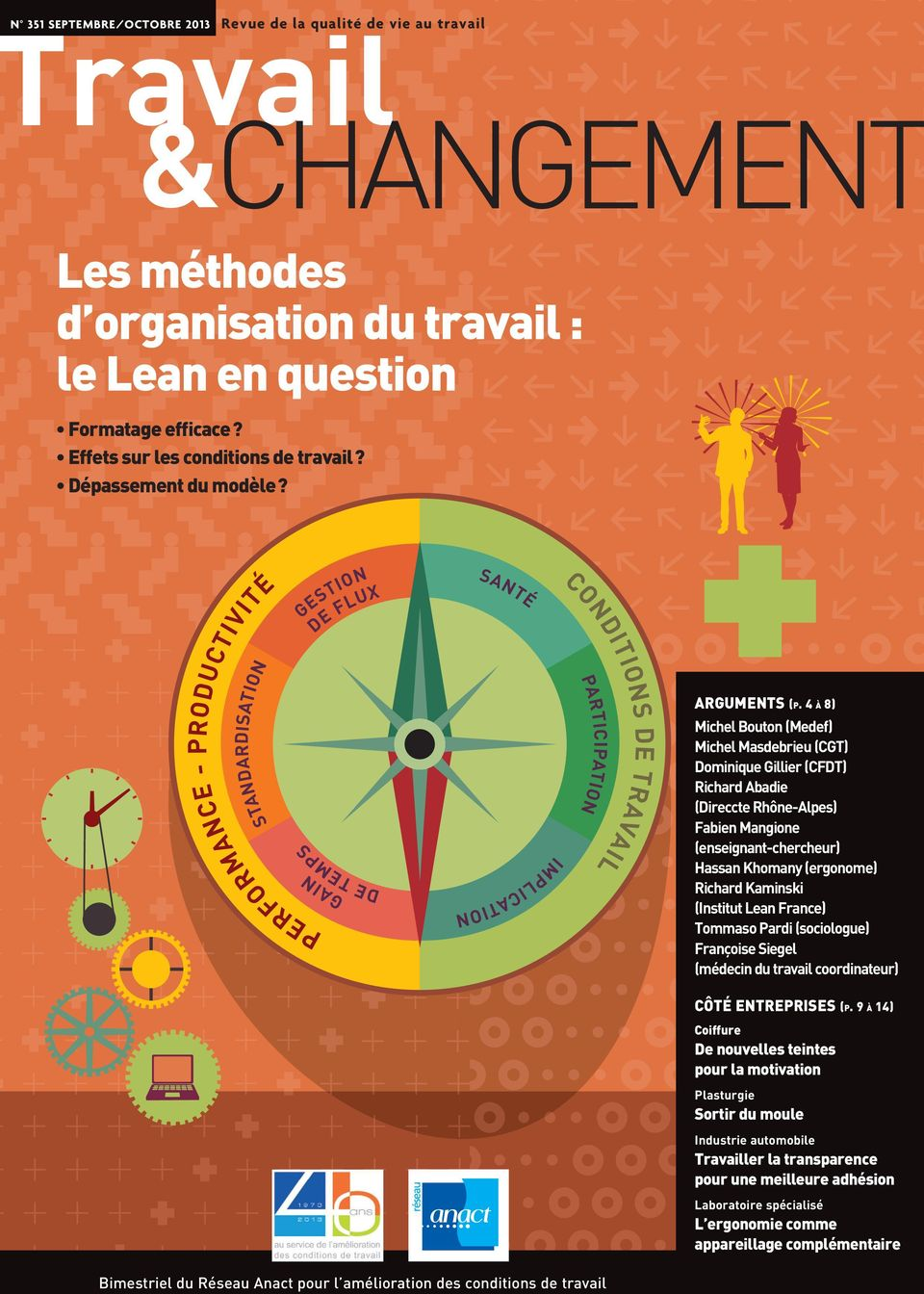GESTION DE FLUX SANTÉ STANDARDISATION DE TEMPS GAIN PERFORMANCE - PRODUCTIVITÉ IMPLICATION CONDITIONS DE PARTICIPATION TRAVAIL ARGUMENTS (P.