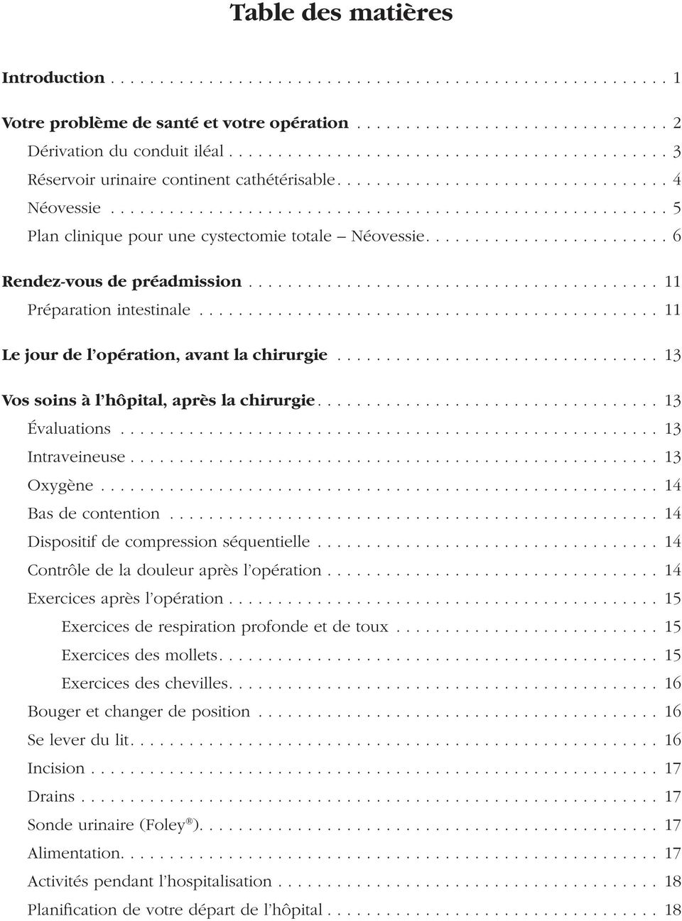 Cystectomie totale Dérivation urinaire Néovessie - PDF