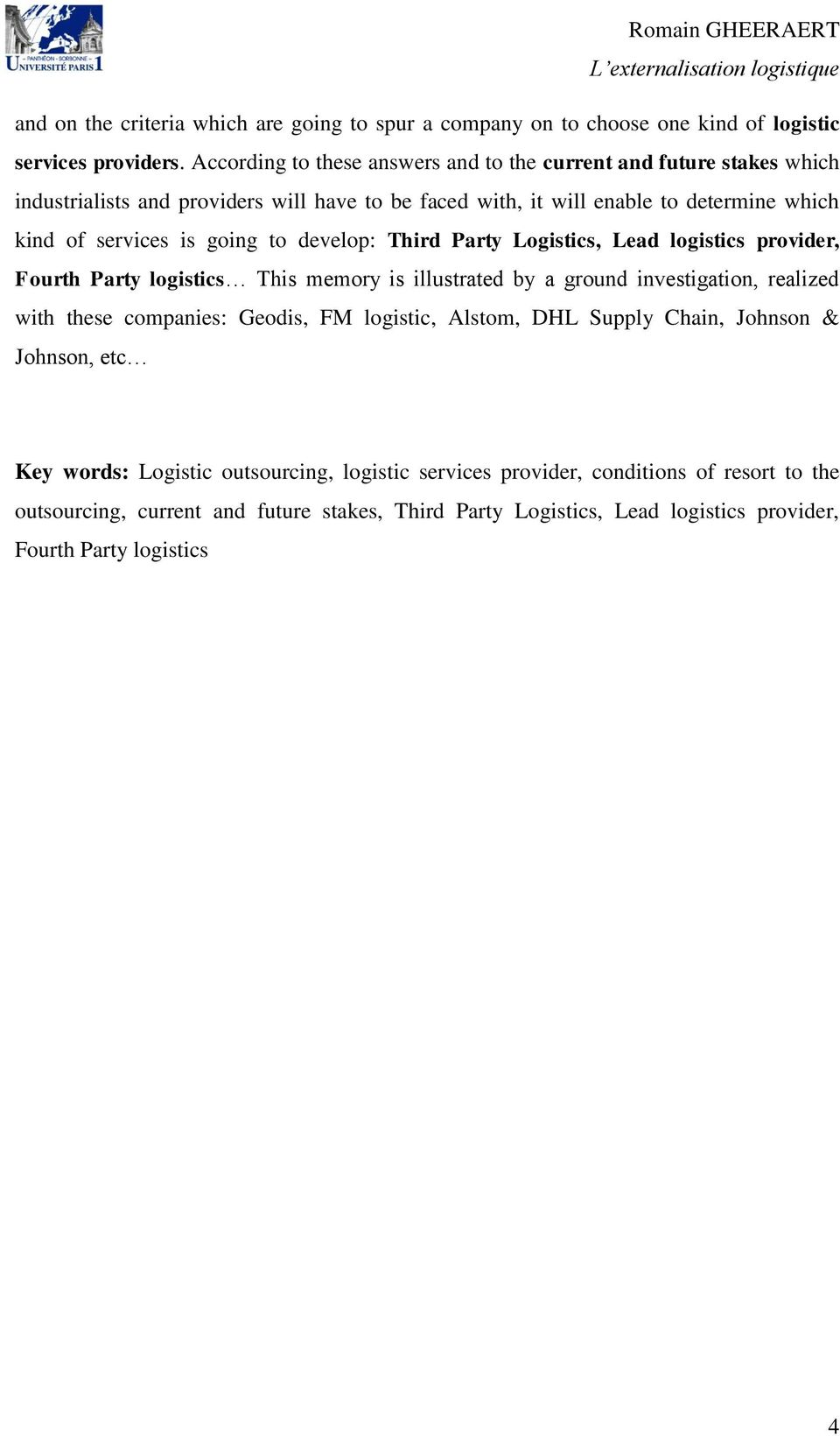 logistics service providers definition pdf