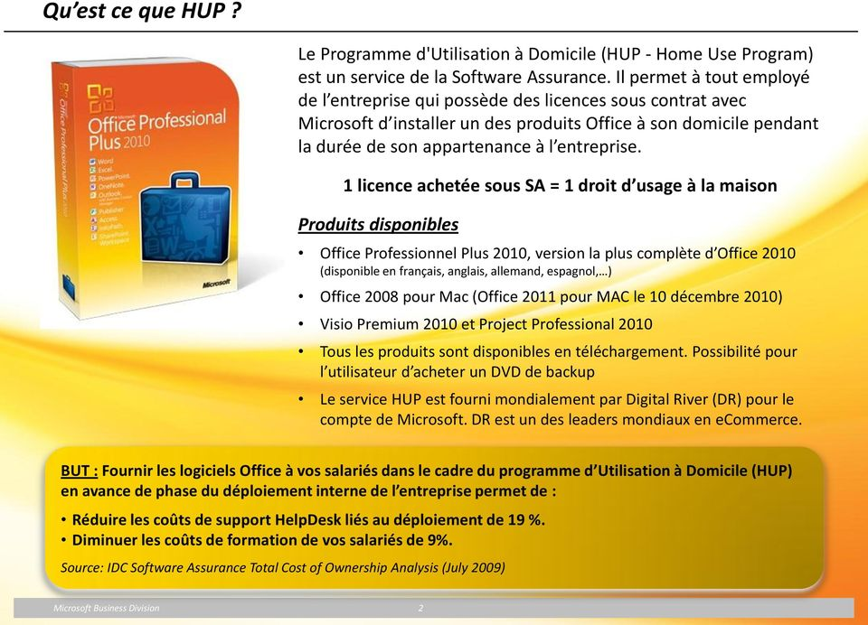 Programme d utilisation domicile home use program hup - Office allemand d echanges universitaires ...