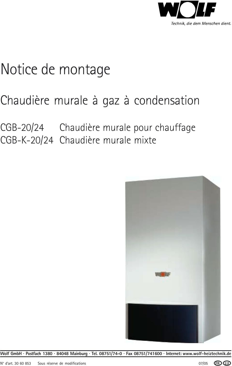 chaudi re murale gaz condensation cgb 20 24 chaudi re murale pour chauffage cgb k 20 24. Black Bedroom Furniture Sets. Home Design Ideas