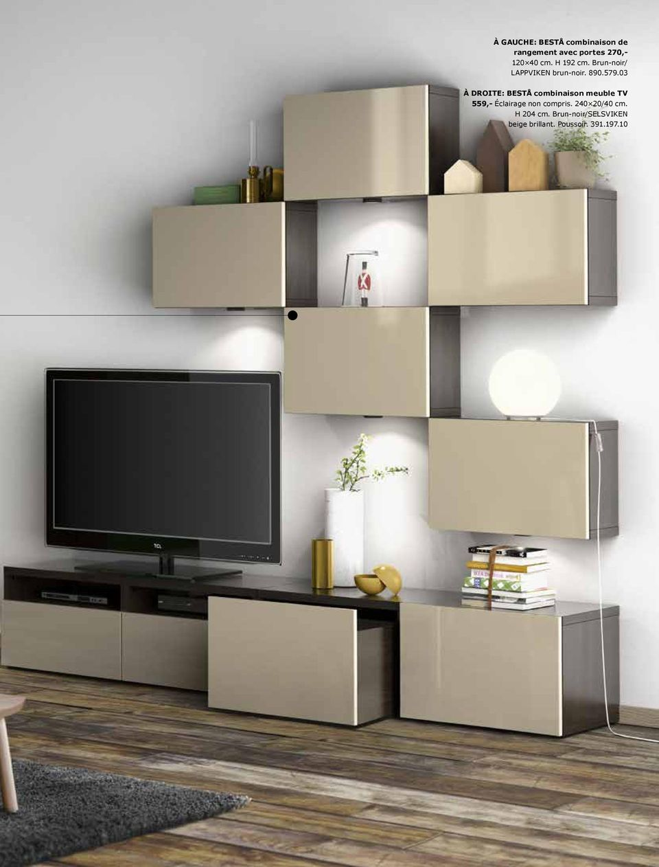 combinaison meuble tv rangement meubles de design d 39 inspiration pour la. Black Bedroom Furniture Sets. Home Design Ideas