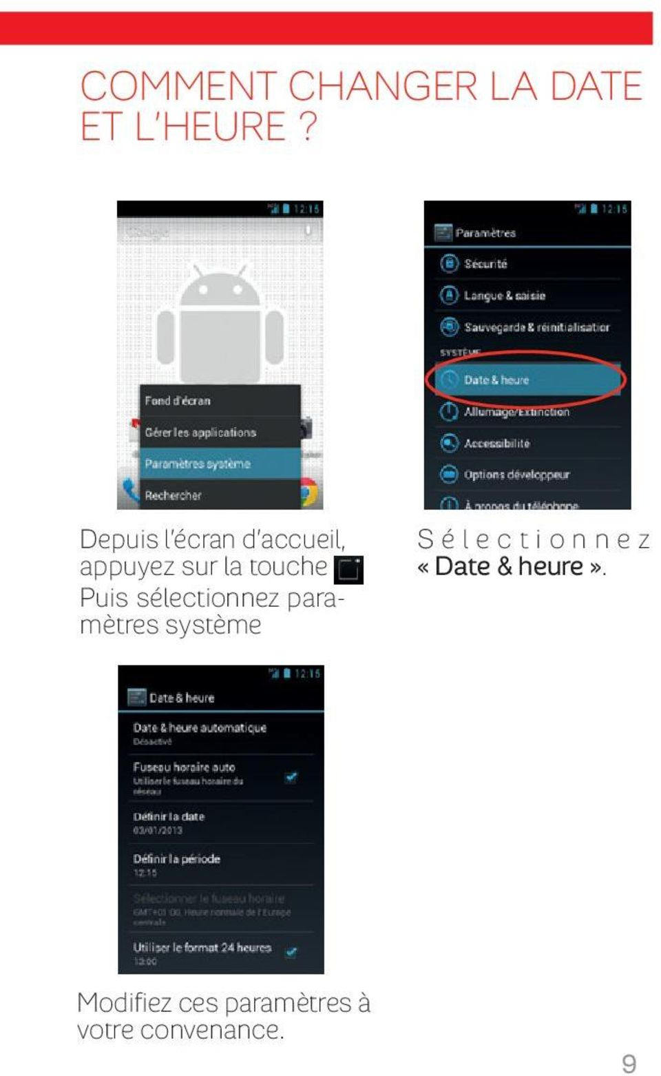 Smartphone android by sfr pdf - Comment changer une prise de courant ...