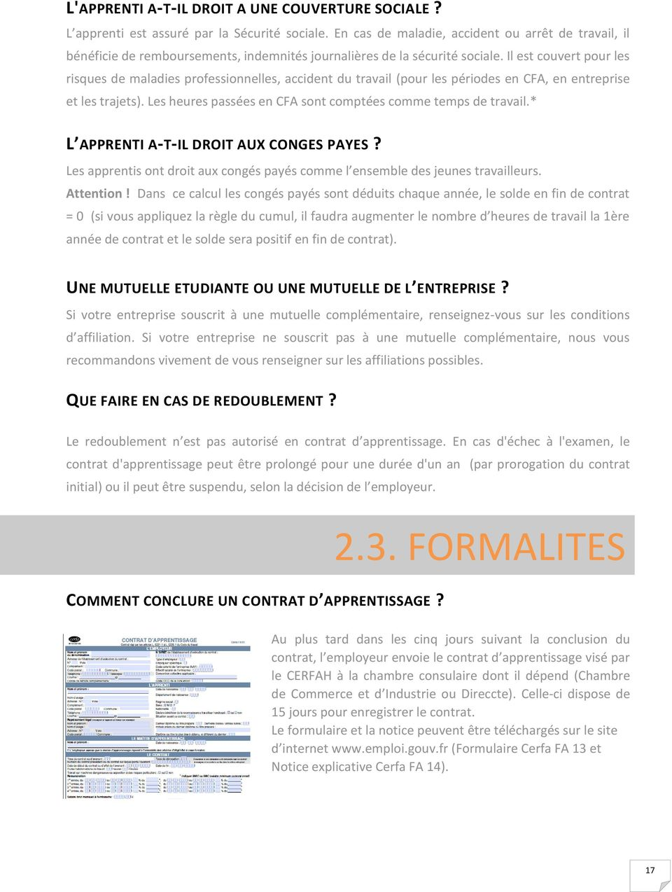 Guide de l apprentissage infirmier pdf for Chambre consulaire apprentissage