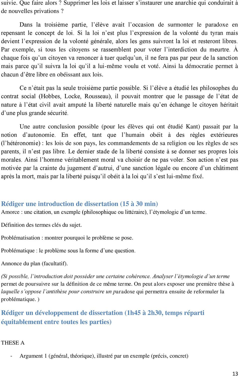 Comment Faire Un Plan De Dissertation De Philo