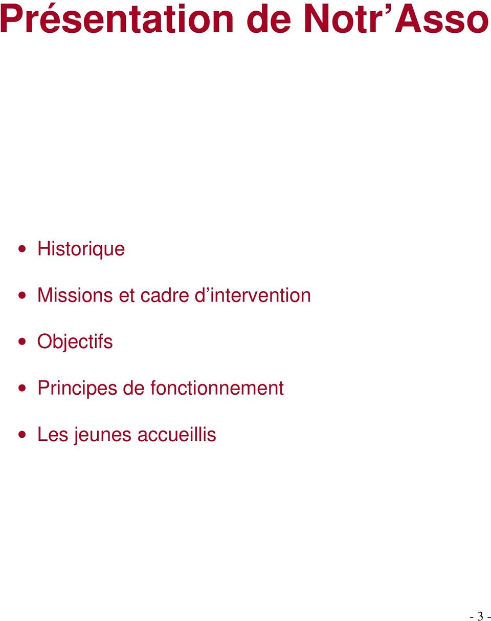 intervention Objectifs Principes