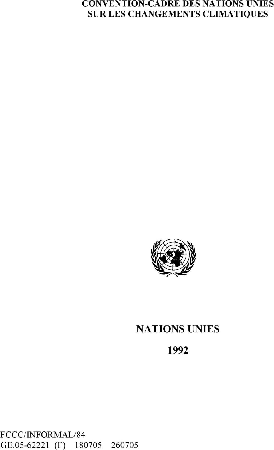 CLIMATIQUES NATIONS UNIES 1992