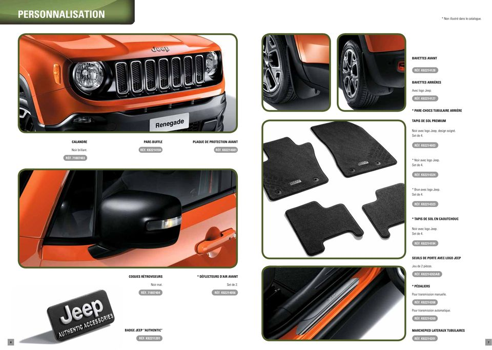 jeep renegade accessoires d origine pdf. Black Bedroom Furniture Sets. Home Design Ideas