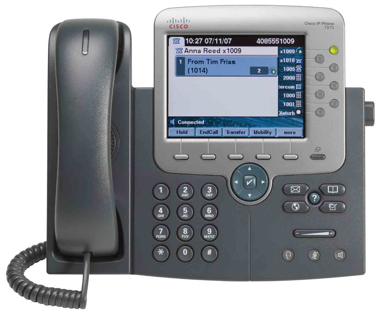 Téléphone IP Cisco Unified 7975G 17 1 2 16 3 4