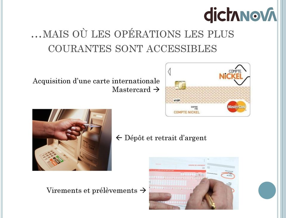 d une carte internationale Mastercard