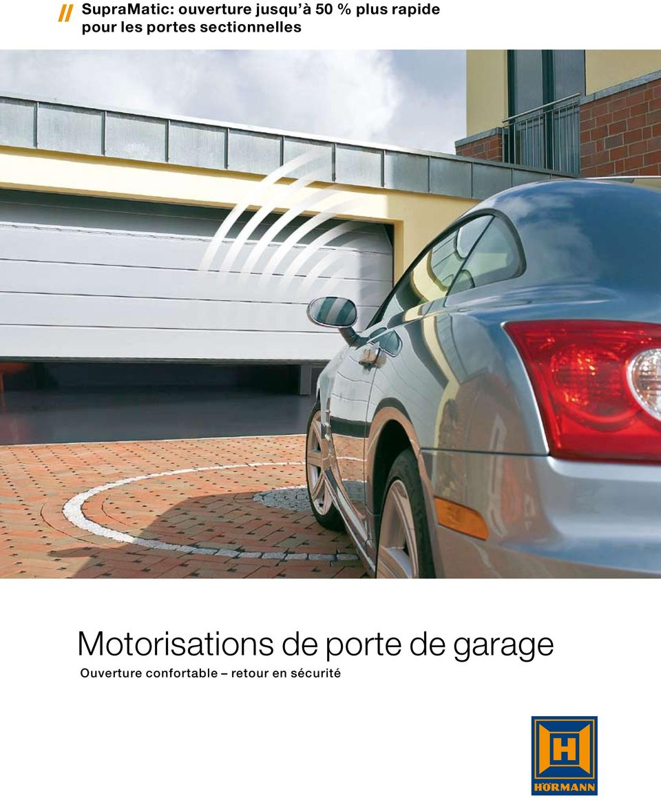Motorisations de porte de garage pdf for Ouverture de garage