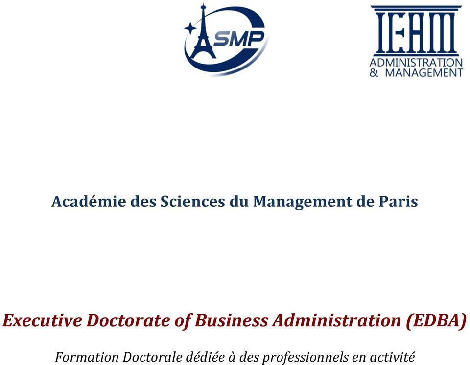 Business Administratin (EDBA)