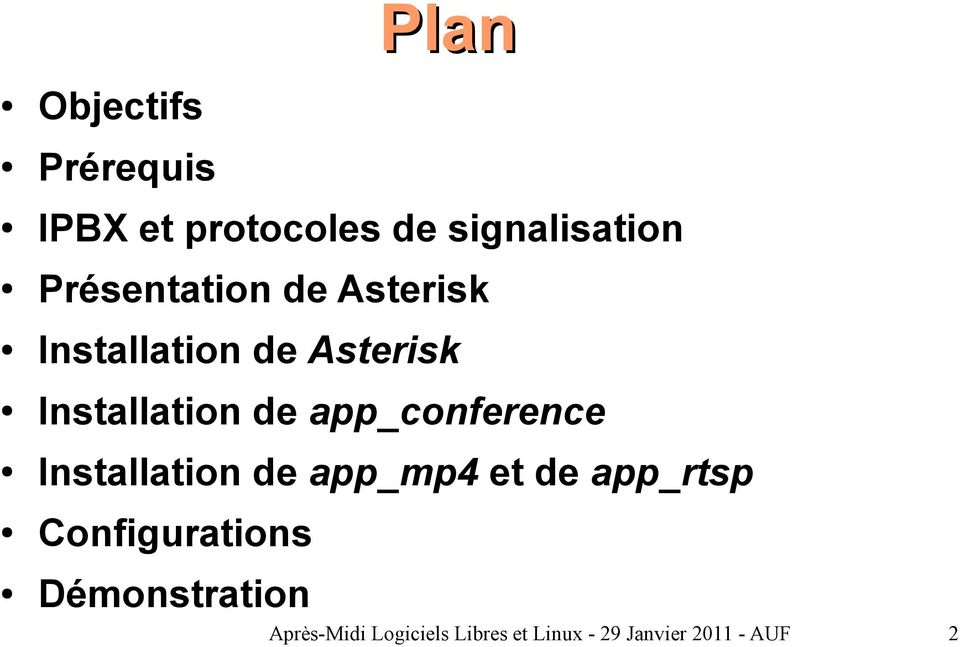 app_conference Installation de app_mp4 et de app_rtsp
