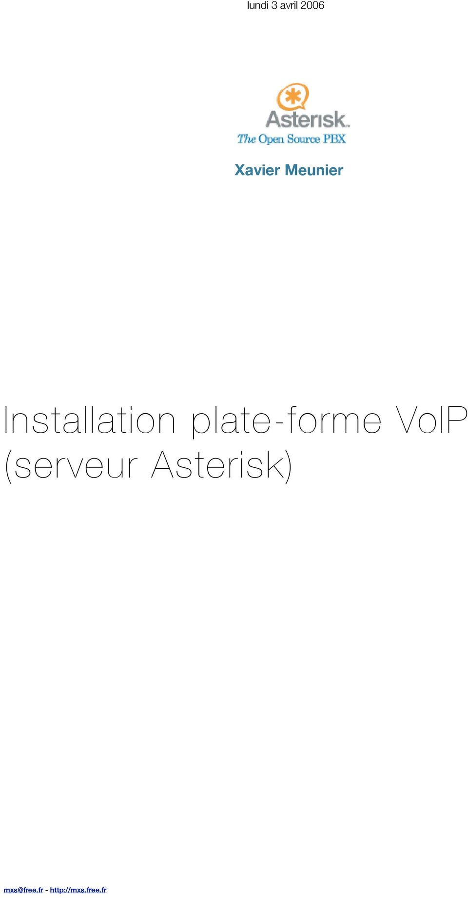 plate-forme VoIP (serveur