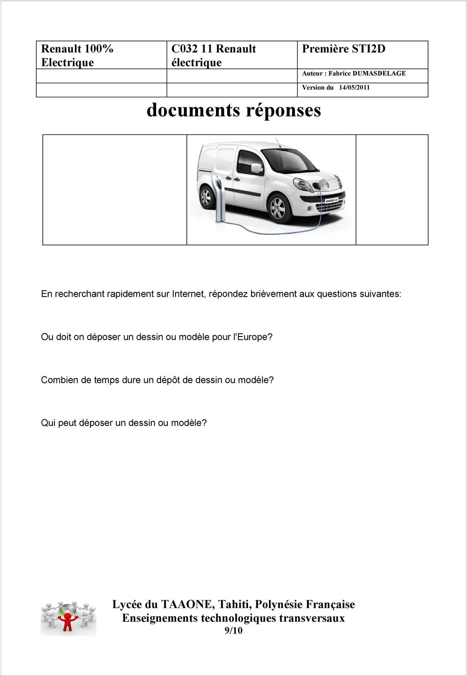 c renault lectrique documents r ponses pdf. Black Bedroom Furniture Sets. Home Design Ideas