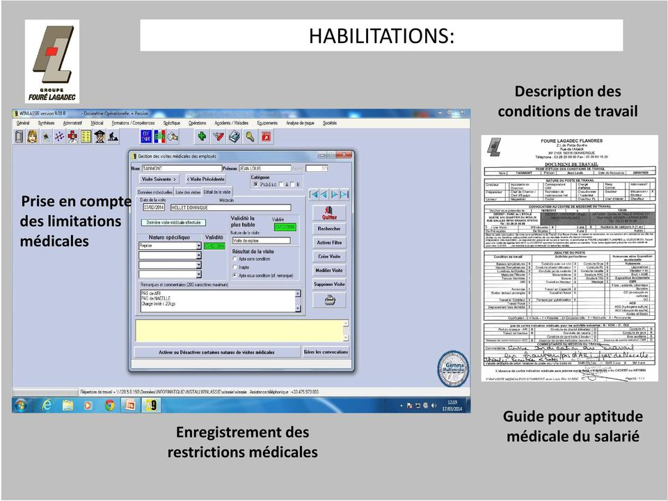 médicales Enregistrement des restrictions