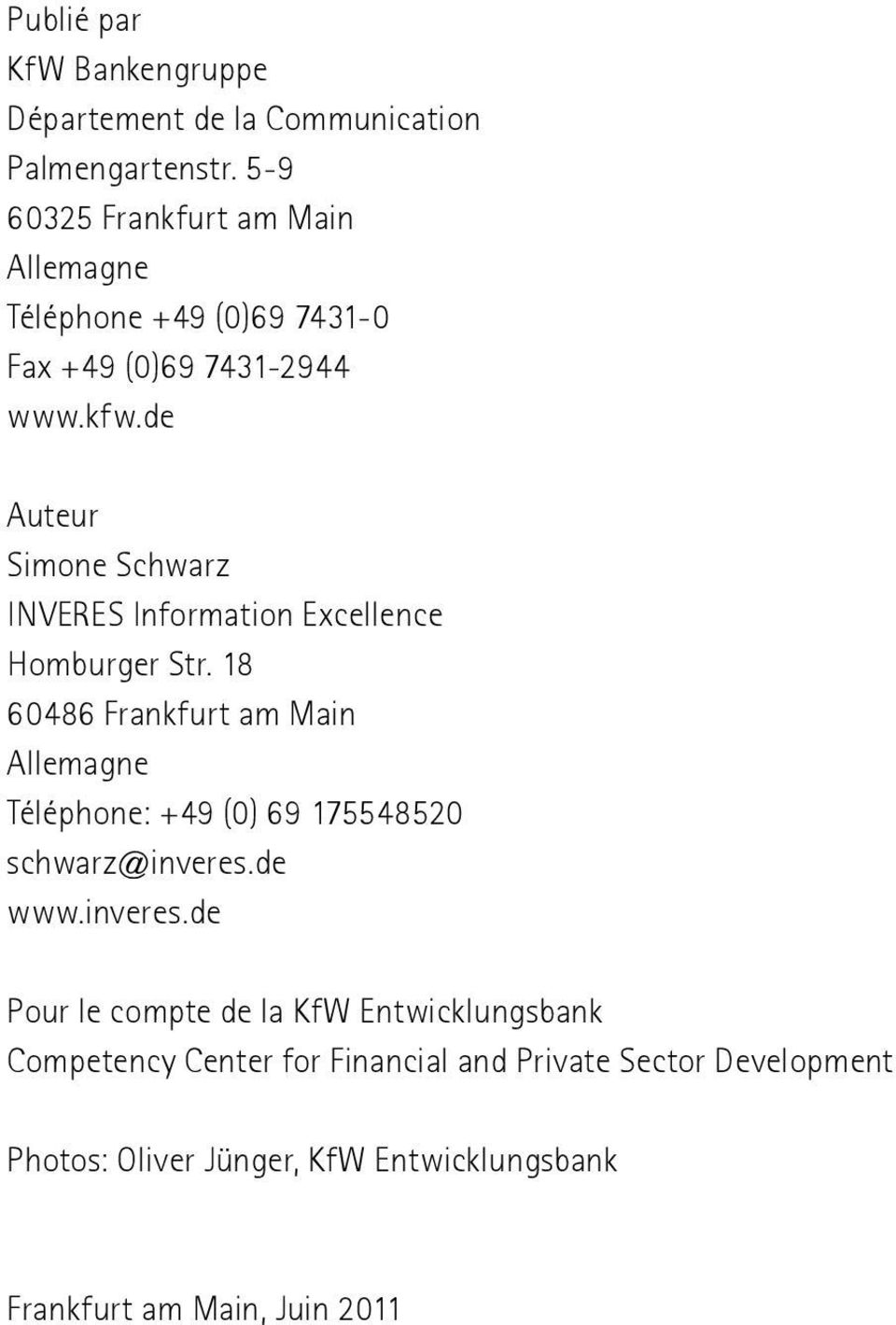 de Auteur Simone Schwarz INVERES Information Excellence Homburger Str.
