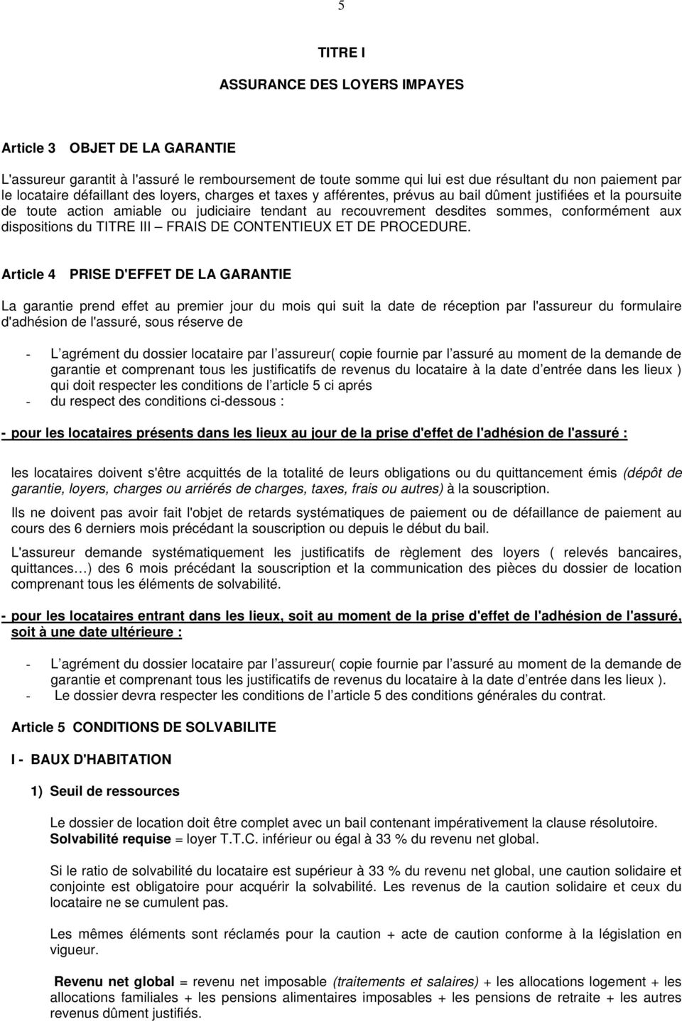 dispositions du TITRE III FRAIS DE CONTENTIEUX ET DE PROCEDURE.