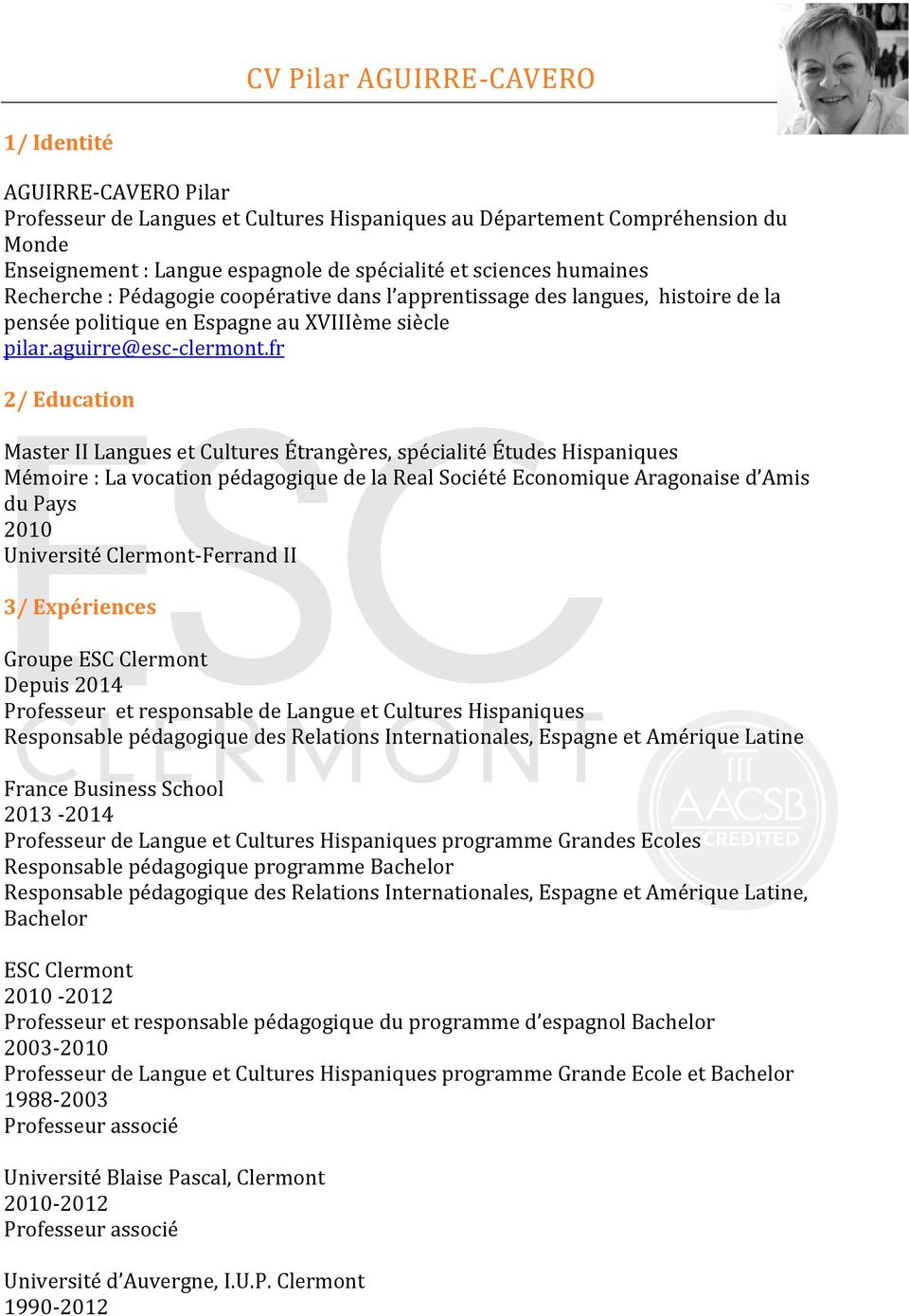 book cv professeurs permanents par departement
