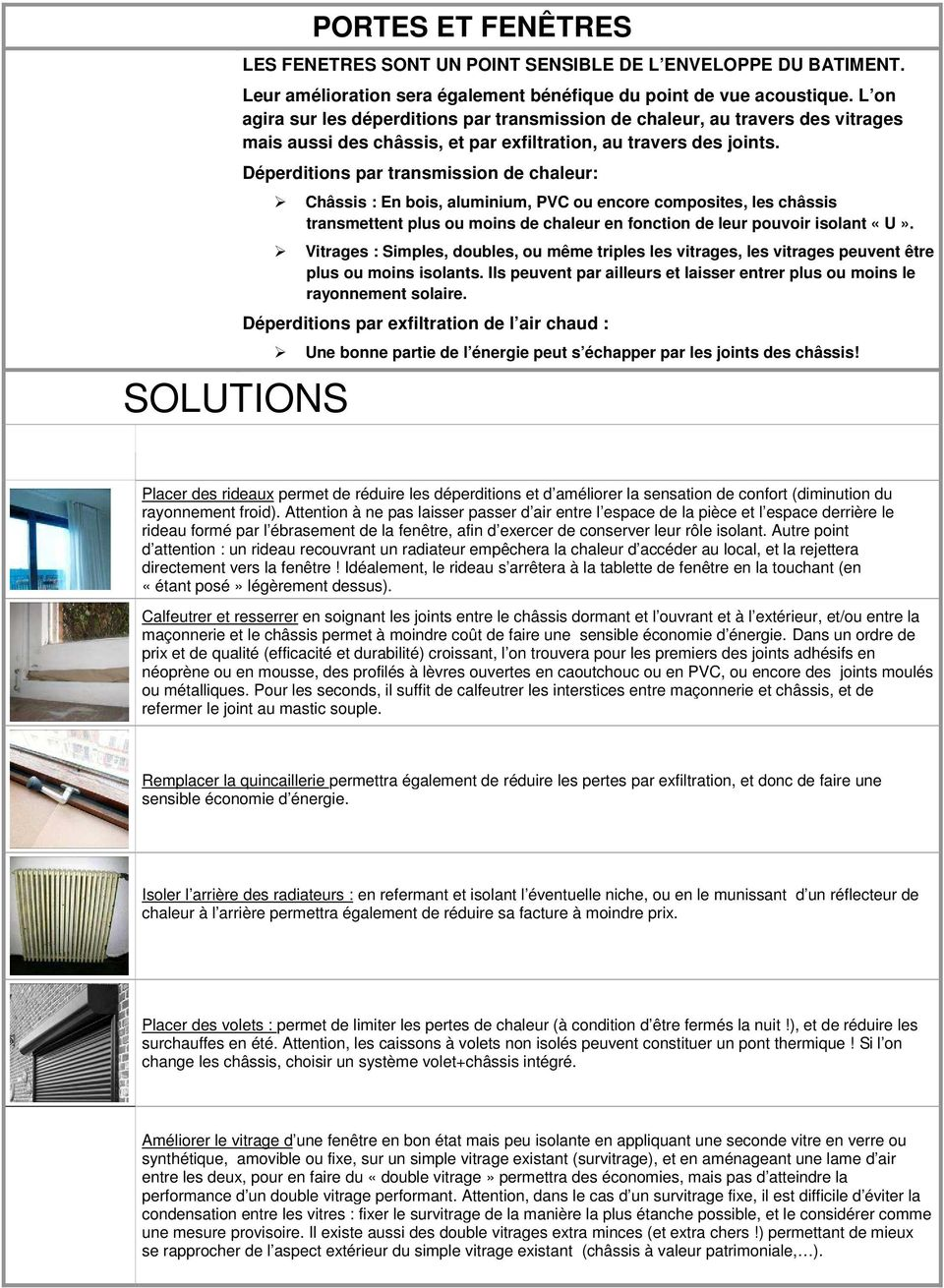 fiches de conseils isolation thermique de l enveloppe des b timents pdf. Black Bedroom Furniture Sets. Home Design Ideas