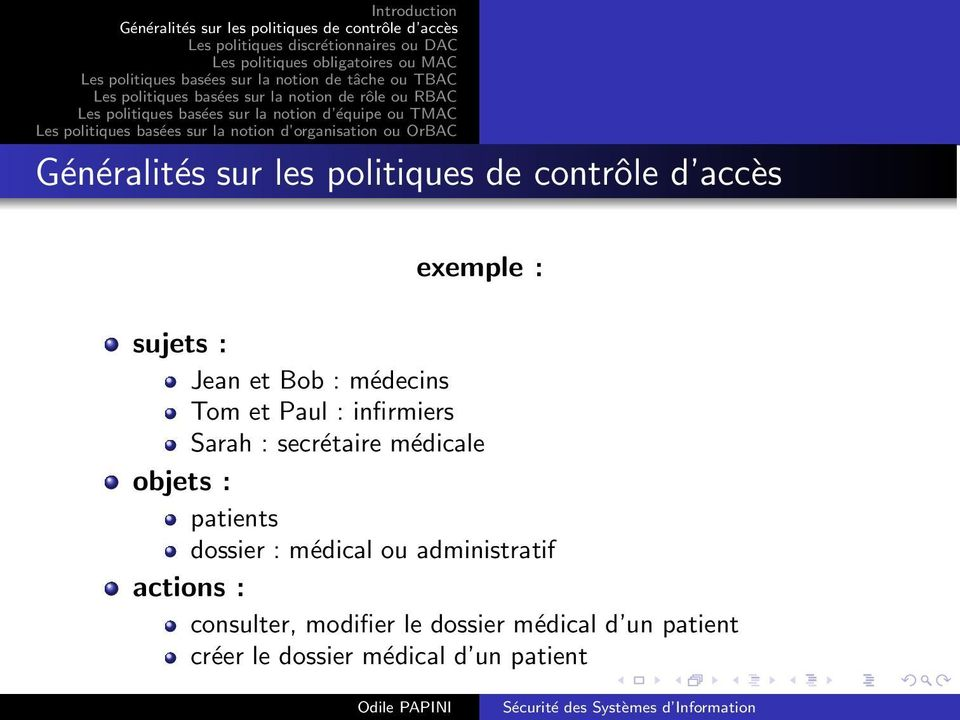 dossier : médical ou administratif actions : consulter,