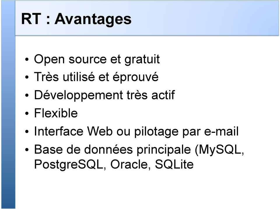 Flexible Interface Web ou pilotage par e-mail