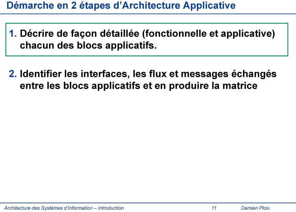 applicatifs. 2.