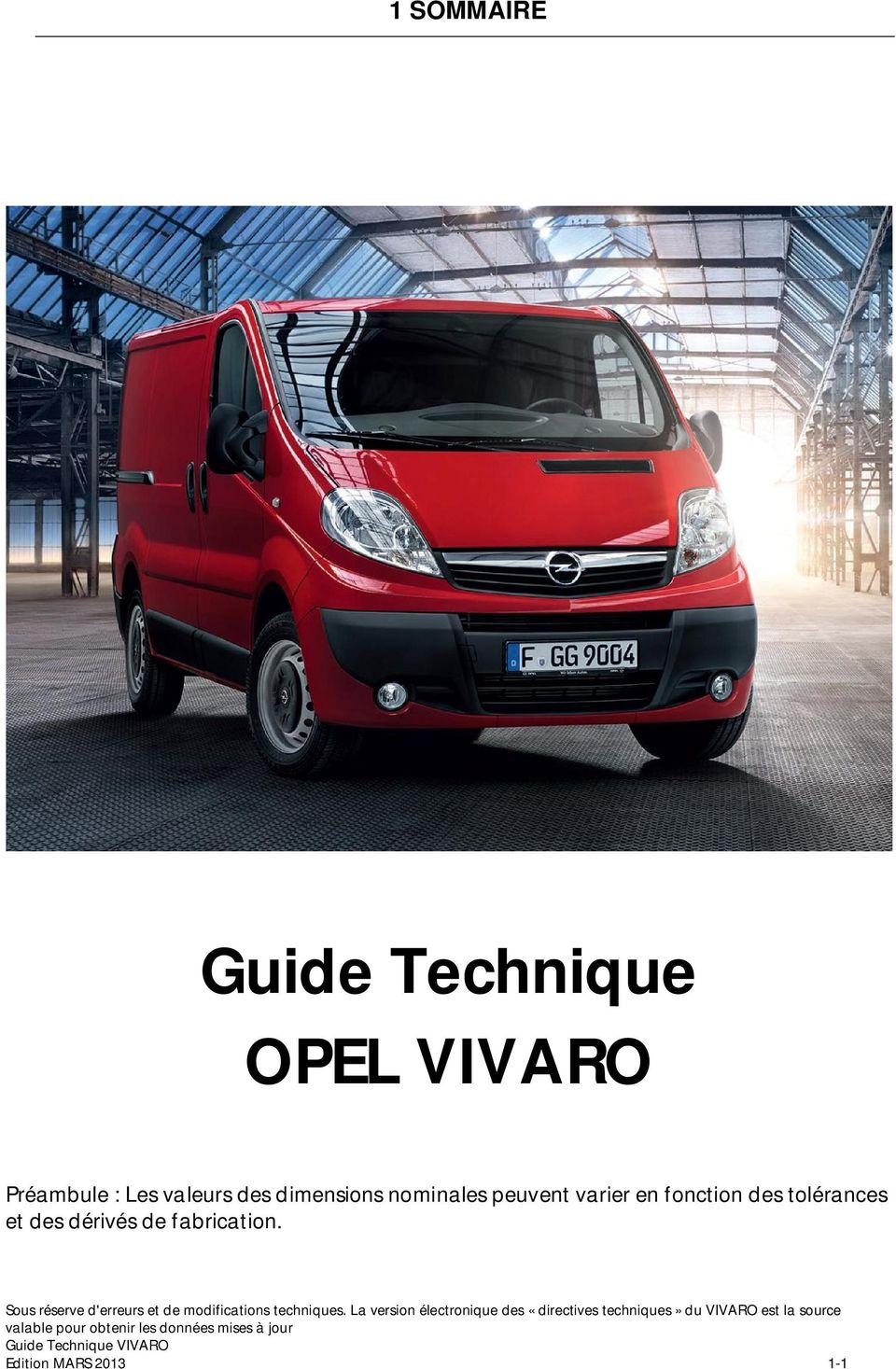 guide technique opel vivaro pdf. Black Bedroom Furniture Sets. Home Design Ideas