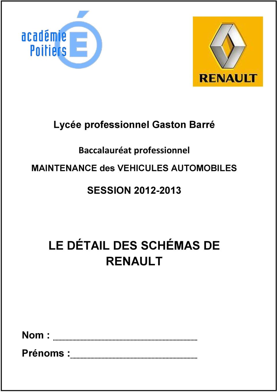 des VEHICULES AUTOMOBILES SESSION