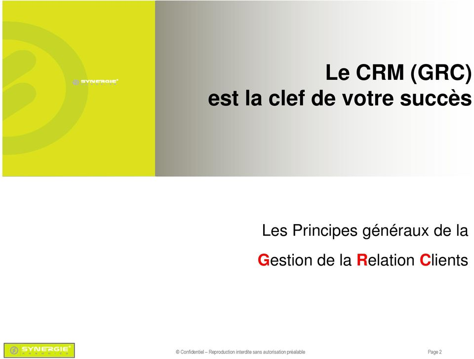 Relation Clients Confidentiel Reproduction