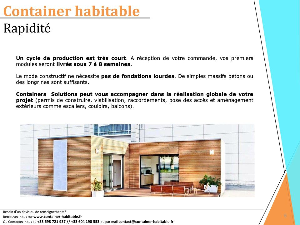 Container habitable containers solutions pdf for Container permis de construire