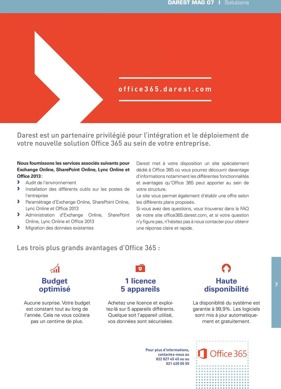 entreprise Paramétrage d Exchange Online, SharePoint Online, Lync Online et Office 2013 Administration d Exchange Online, SharePoint Online, Lync Online et Office 2013 Migration des données