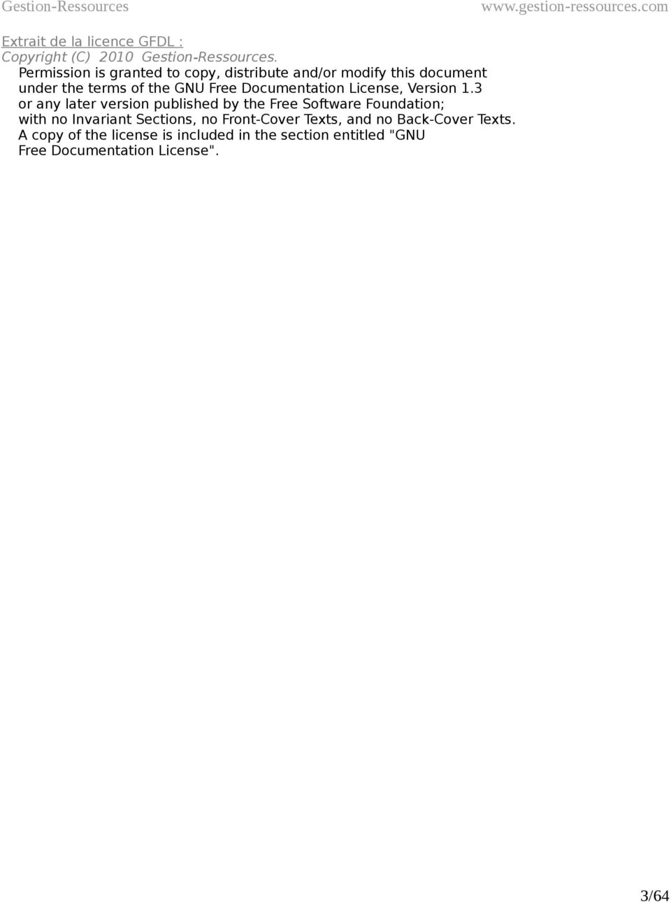 Documentation License, Version 1.
